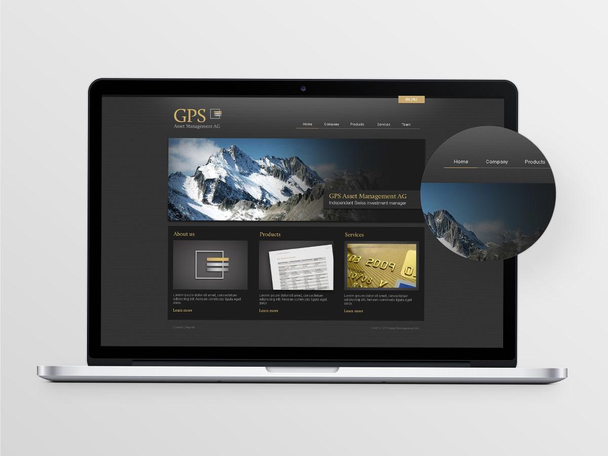 Webseite der GPS Asset Management AG - IPR Consulting Establishment