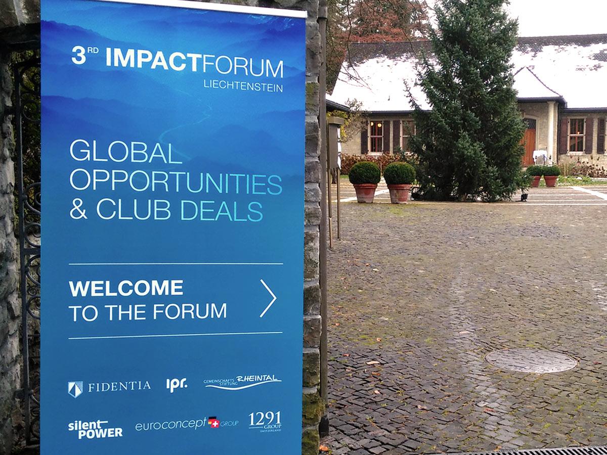Welcome Banner 3rd Impact Forum Liechtenstein - IPR Consulting Establishment